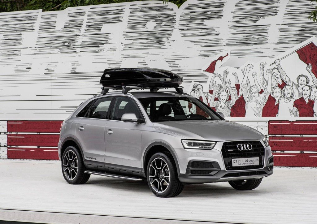 audi q3 off road style package showcased at worthersee audi q3 forum. Black Bedroom Furniture Sets. Home Design Ideas